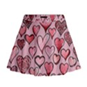 Artistic Valentine Hearts Mini Flare Skirt View1