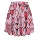 Artistic Valentine Hearts High Waist Skirt View2