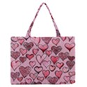 Artistic Valentine Hearts Medium Zipper Tote Bag View1