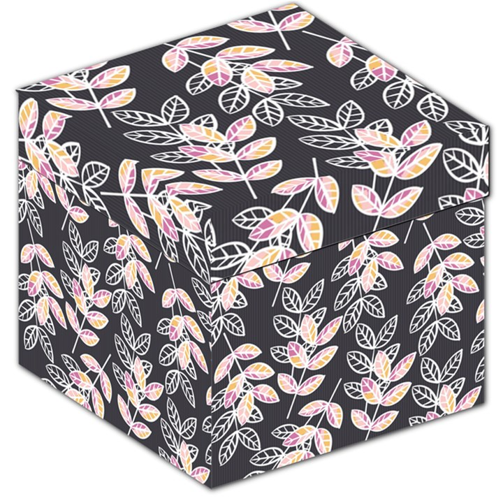 Winter Beautiful Foliage  Storage Stool 12