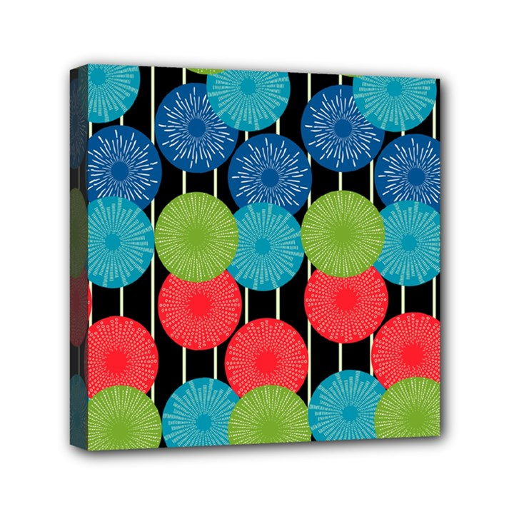 Vibrant Retro Pattern Mini Canvas 6  x 6