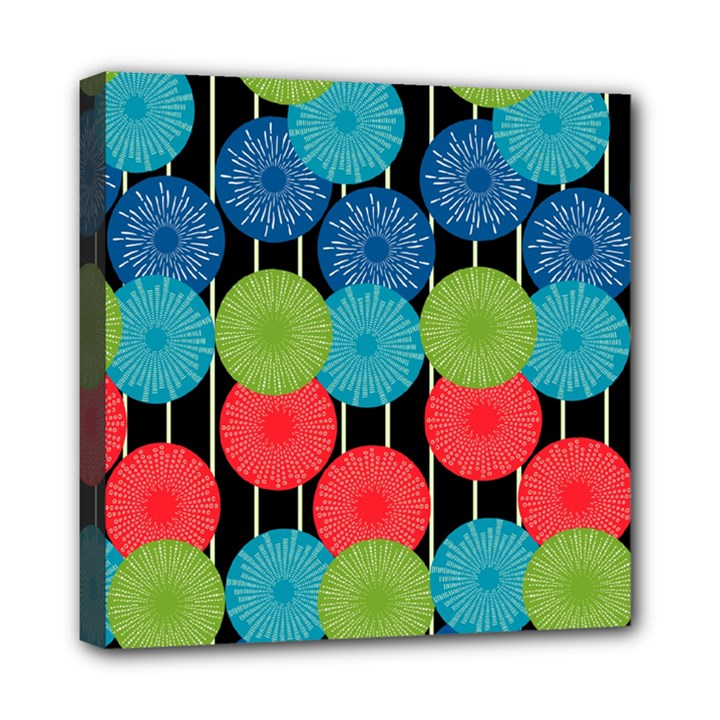 Vibrant Retro Pattern Mini Canvas 8  x 8