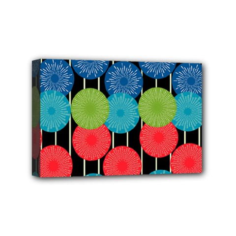 Vibrant Retro Pattern Mini Canvas 6  X 4