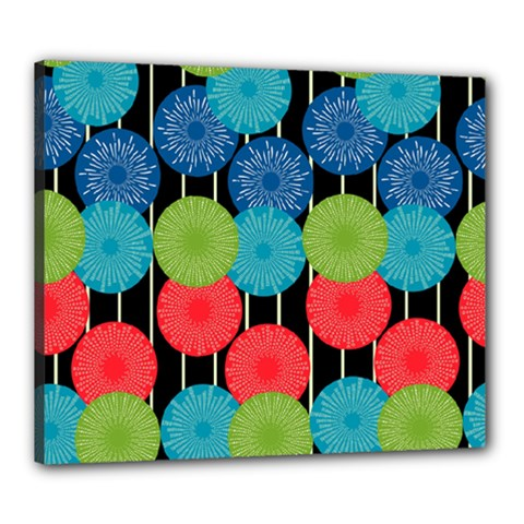 Vibrant Retro Pattern Canvas 24  x 20