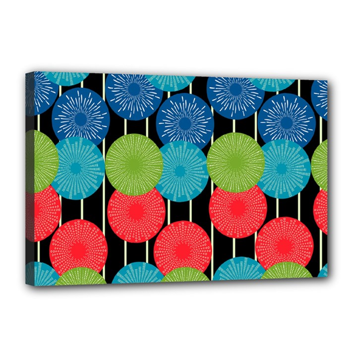 Vibrant Retro Pattern Canvas 18  x 12