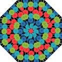 Vibrant Retro Pattern Folding Umbrellas View1