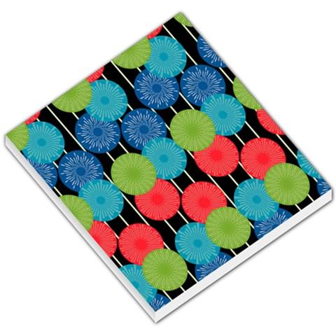 Vibrant Retro Pattern Small Memo Pads