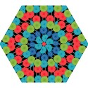 Vibrant Retro Pattern Mini Folding Umbrellas View1