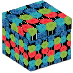 Vibrant Retro Pattern Storage Stool 12