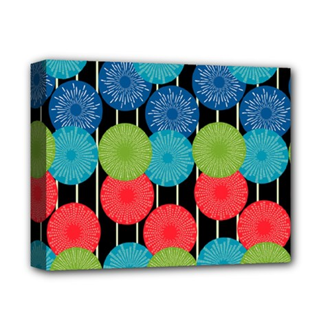 Vibrant Retro Pattern Deluxe Canvas 14  X 11