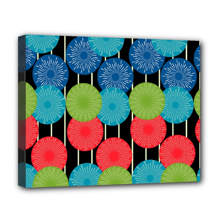 Vibrant Retro Pattern Deluxe Canvas 20  x 16