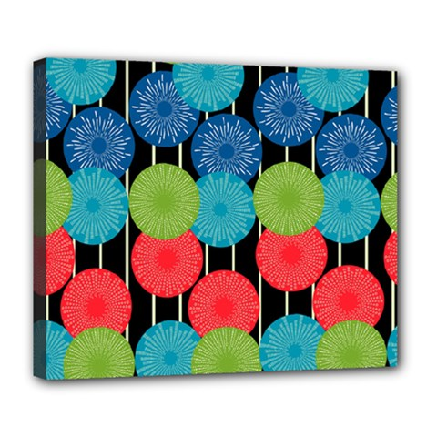 Vibrant Retro Pattern Deluxe Canvas 24  X 20