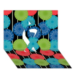 Vibrant Retro Pattern Ribbon 3D Greeting Card (7x5)
