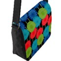Vibrant Retro Pattern Flap Messenger Bag (L)  View2