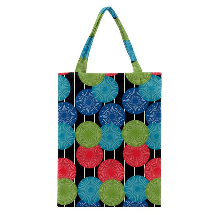 Vibrant Retro Pattern Classic Tote Bag