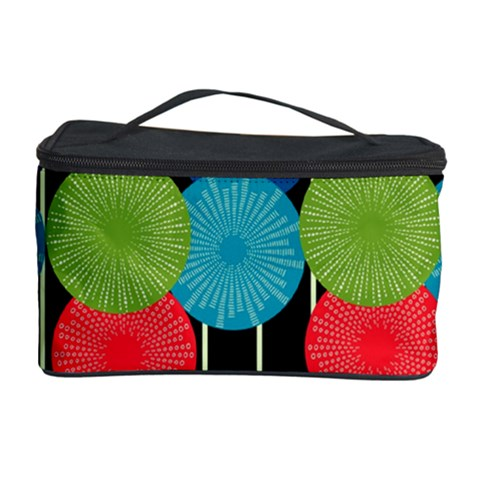 Vibrant Retro Pattern Cosmetic Storage Case