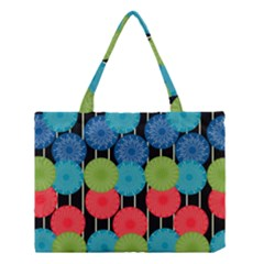 Vibrant Retro Pattern Medium Tote Bag