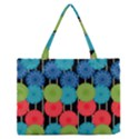 Vibrant Retro Pattern Medium Zipper Tote Bag View1