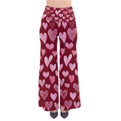 Watercolor Valentine s Day Hearts Pants