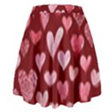 Watercolor Valentine s Day Hearts High Waist Skirt View2