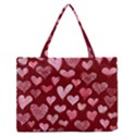 Watercolor Valentine s Day Hearts Medium Zipper Tote Bag View1