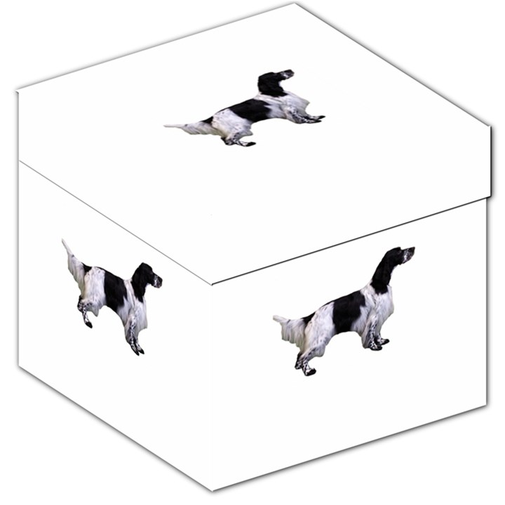 English Setter Full Storage Stool 12
