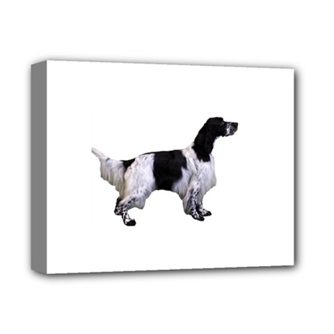 English Setter Full Deluxe Canvas 14  x 11