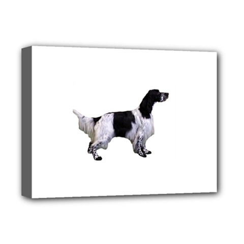 English Setter Full Deluxe Canvas 16  x 12
