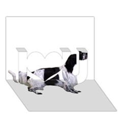 English Setter Full I Love You 3D Greeting Card (7x5)