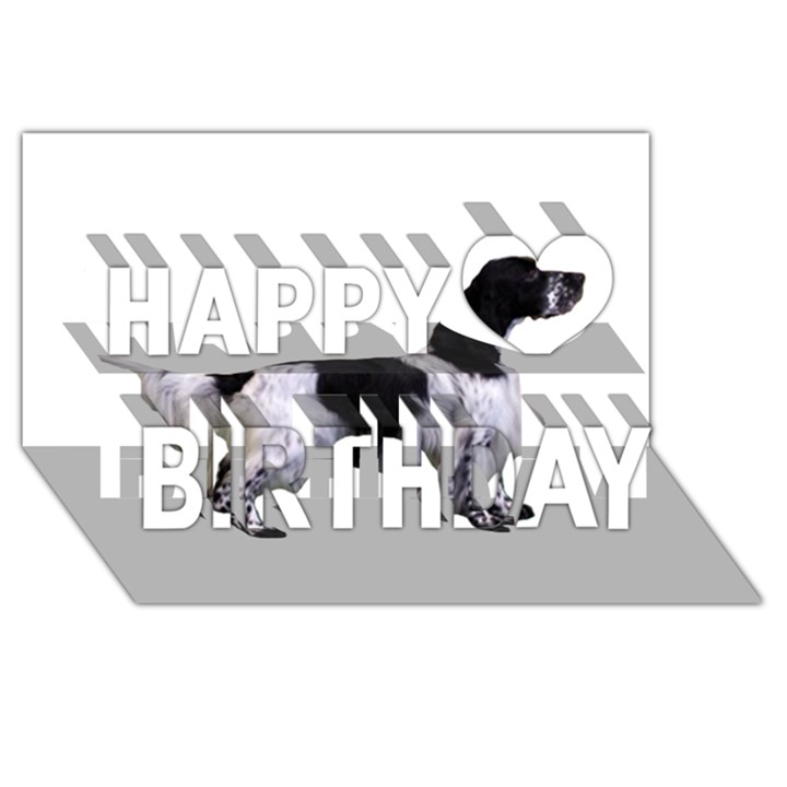 English Setter Full Happy Birthday 3D Greeting Card (8x4)