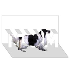 English Setter Full MOM 3D Greeting Card (8x4)