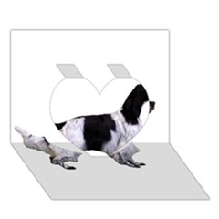 English Setter Full Heart 3D Greeting Card (7x5)