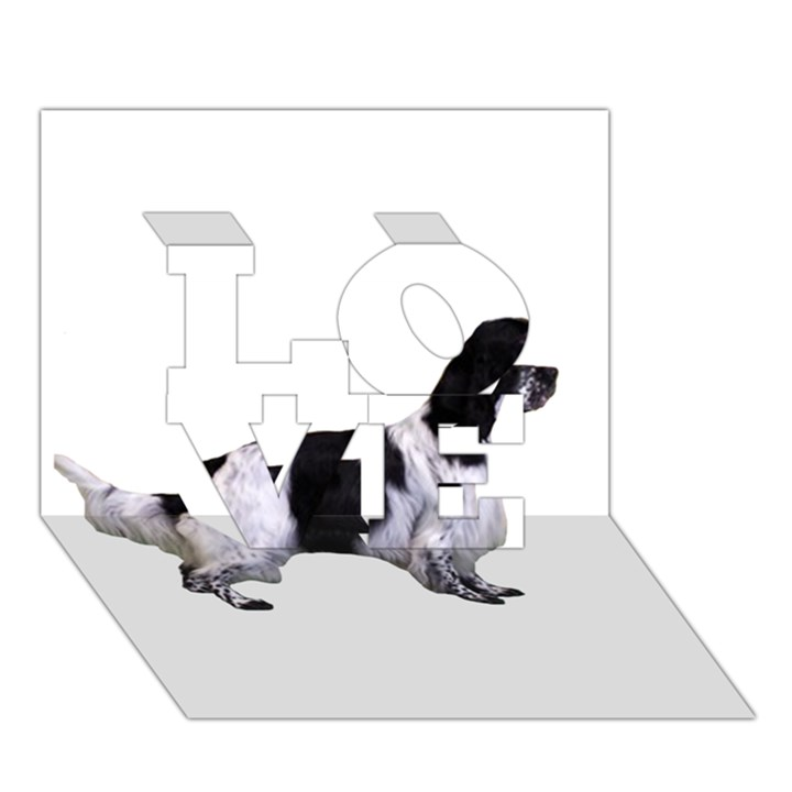 English Setter Full LOVE 3D Greeting Card (7x5)