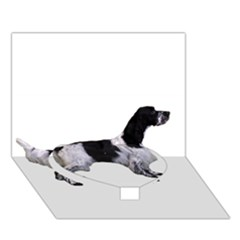 English Setter Full Heart Bottom 3D Greeting Card (7x5)