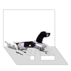English Setter Full LOVE Bottom 3D Greeting Card (7x5)
