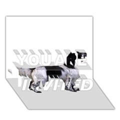 English Setter Full YOU ARE INVITED 3D Greeting Card (7x5)