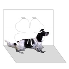 English Setter Full Clover 3D Greeting Card (7x5)
