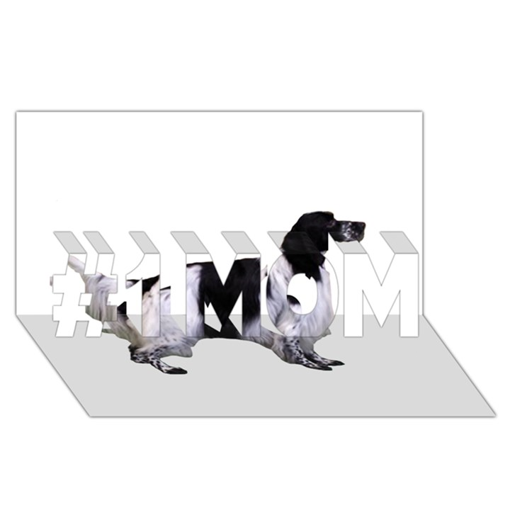 English Setter Full #1 MOM 3D Greeting Cards (8x4)