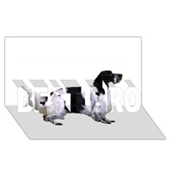 English Setter Full BEST BRO 3D Greeting Card (8x4)