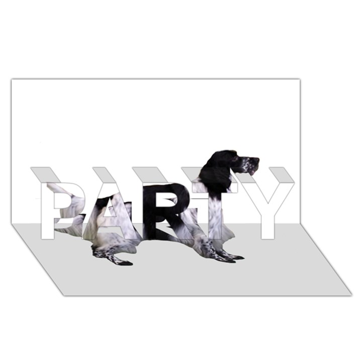 English Setter Full PARTY 3D Greeting Card (8x4)