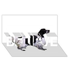 English Setter Full BELIEVE 3D Greeting Card (8x4)
