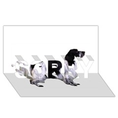 English Setter Full SORRY 3D Greeting Card (8x4)