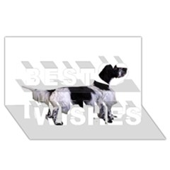English Setter Full Best Wish 3d Greeting Card (8x4)