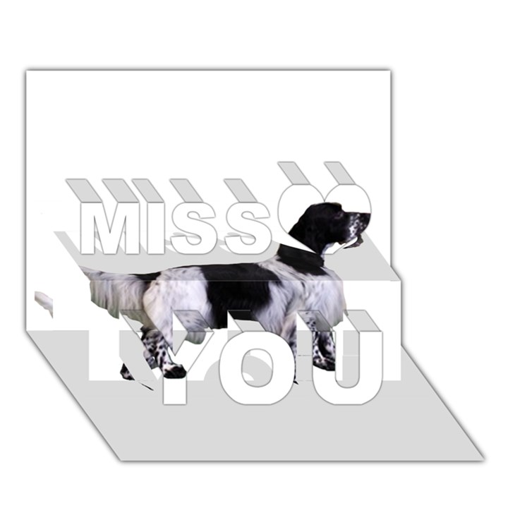 English Setter Full Miss You 3D Greeting Card (7x5)