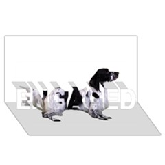 English Setter Full ENGAGED 3D Greeting Card (8x4)