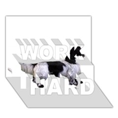 English Setter Full WORK HARD 3D Greeting Card (7x5)