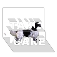 English Setter Full TAKE CARE 3D Greeting Card (7x5)