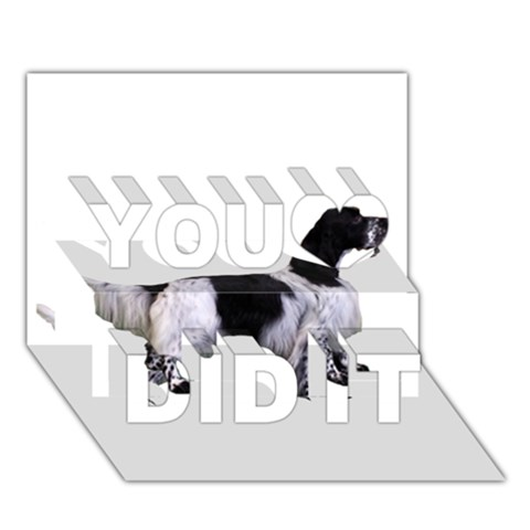 English Setter Full You Did It 3D Greeting Card (7x5)