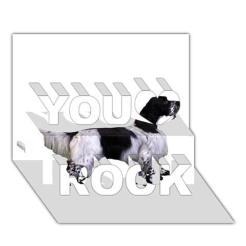 English Setter Full You Rock 3D Greeting Card (7x5)