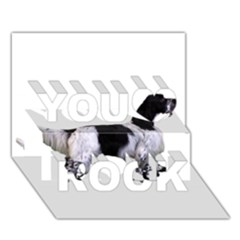 English Setter Full You Rock 3D Greeting Card (7x5)